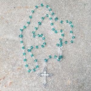 Teal Crystal Rosary